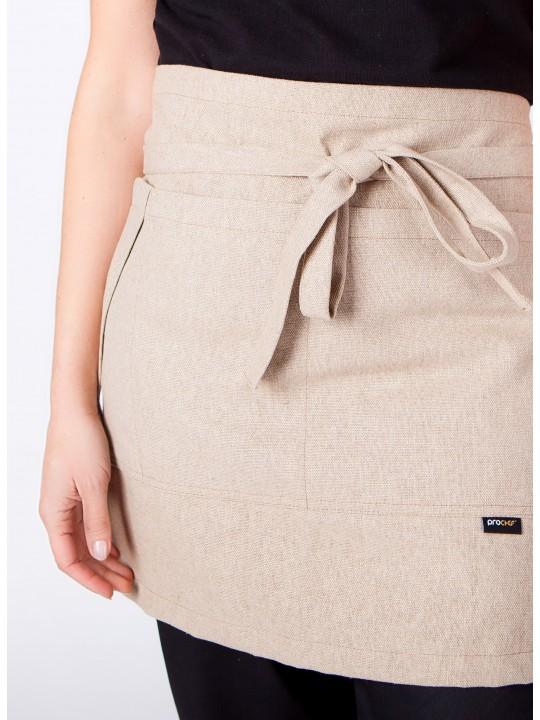 Avental Cintura com bolso em linho
