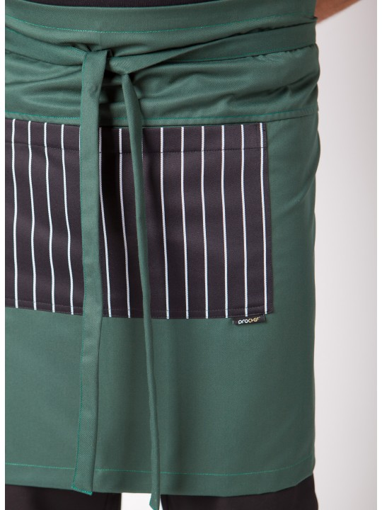 Avental Cintura com bolso às riscas