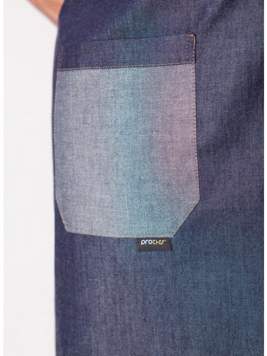 Avental Babete em ganga com bolso